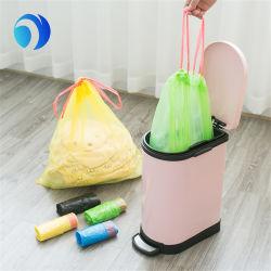 Logotipo de impressão personalizado Compostável Cor Lixeira de HDPE LDPE PLA Pbat Médica de plástico de amido de milho Tall domésticos biodegradáveis de cozinha com cordão saco de lixo