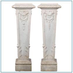 Met de hand gesneden Witte marmeren stenen kolom voor de bouw
