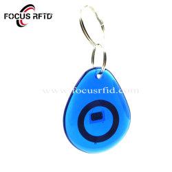 Schrijf/de Blauwe Duidelijke Markering Keyfob van het Kristal RFID voor de Gebeurtenis van de Bevordering