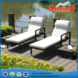 حمام السباحة سرير شاطئي / كرسي شاطئ / شاطئ من خشب الروطان كراسي الاستلقاء