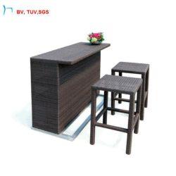C-옥외 가구 합성 위커 바 의자 및 테이블