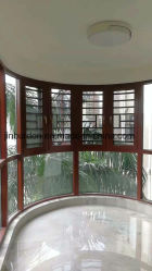 Doppeltes Glasflügelfenster für neues Entwurfs-Ausgangsfenster