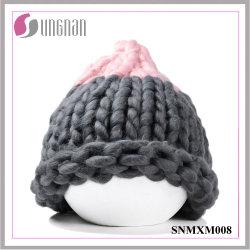 Meninas coreanas de fios grossos acrílico Hand-Knitting Multicor Hat (SNMXM008)