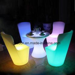 喫茶店の家を食事するためのRGB LED棒ラウンジの家具LED Dinningの椅子