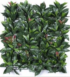 La decoración de plantas suculentas de Bonsai Artificial sintético Topiary de plástico de pared verde jardín vertical de boj