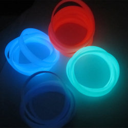 Brillante fluorescente mayorista pulseras de silicona