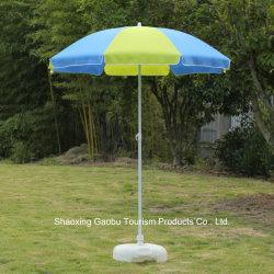 De Paraplu van het Strand van het staal met Schuine stand door Polyester wordt gemaakt die