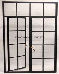 Ручной работы современных стали по-французски дверная рама перемещена окно для роскоши дома