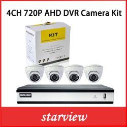 Sorveglianza 4CH H. 264 720 DVR AHD con 4 telecamere TVCC