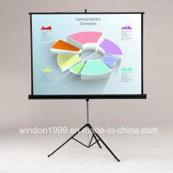 """60""""x60"""" HD портативный штатив проектор экрана потяните экран проектора"""