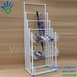 Горячая продажа металла зонтик дисплей для установки в стойку подставки для розничных магазинов и универмагов/супермаркет