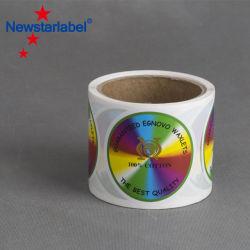Kundenspezifischer glatter wasserdichter selbstklebender Kennsatz eingemacht/Nahrungsmittel-/Bier-/Frucht-Stau