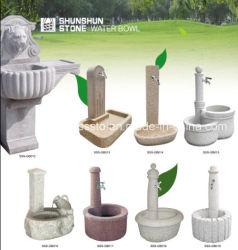 Tigela de água de granito para decoração de interiores e exteriores