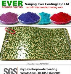Metallische Effekt-Antike-goldene grüne Polyester-Puder-Beschichtung-Lacke