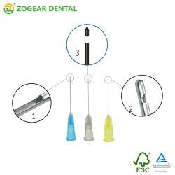 Sn005-12 Zogear Dicas de agulha de irrigação, a agulha da seringa Dental
