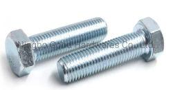 Galvanizado blanco azul DIN933 Tornillo hexagonal de acero de alta resistencia