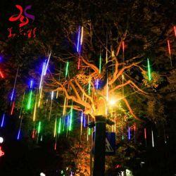 30cm 50cm 80cm 100cm LED Gefäß-Hochzeitsfest-Garten-Weihnachtsdekorativer Baum-hängender Schneefall-Licht-Meteor des Meteor-Licht-8