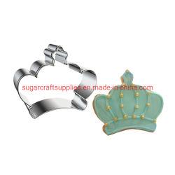 王冠のダイヤモンドのクッキーのカッターのカップケーキの装飾のテンプレート型のクッキーのコーヒーステンシルベーキングカッター