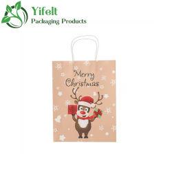 Fabrikant Custom Christmas Gift Tassen, Paper Craft Tassen, Goody Tassen met kerstfiguren voor Kerstmis Party
