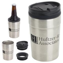 La tazza sottile classica di stampa dell'acciaio inossidabile della birra doppia su ordinazione all'ingrosso della bevanda 12oz può supporto più freddo