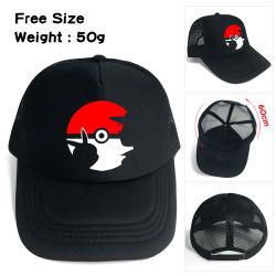 Grille Poke-Mon Hat Cap Casquette de baseball Fashion noir Pocket Hat