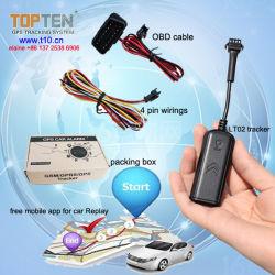 Le GPS Mini Alarme de voiture avec plus de vitesse, voie d'alerte sur les SMS/Web/APP LT02-ez