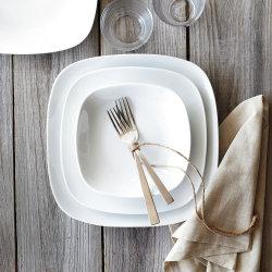 Venda por grosso de porcelana branca de alta temperatura Jantar Prato de cerâmica das placas para o moderno restaurante hotel cinco estrelas