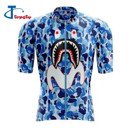 Custom Lightweight Polyester Full 3D Sublimation Cycling Jersey for men