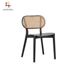 Alquiler de evento de diseño moderno de muebles de rattan Café caña tejida Hotel Sillas de comedor