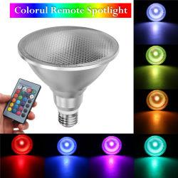 LED de exterior IP65 colorido Remote Spotlight PAR38 E27