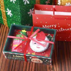 Различные формы Рождество Мороженое хлопок полотенце творческих подарочный набор с вышитым полотенца