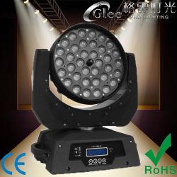 Professional 36*10W1 LED RGBW 4en déplaçant la tête de lavage de zoom