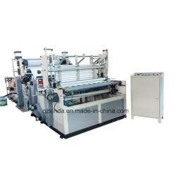 Full-Automatic Hochgeschwindigkeitsküche-Tuch (Farbenkleberdrucken) Rückspulen und perforierte Maschine