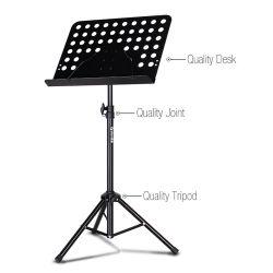 Réglable en métal classique orchestre de la feuille de musique stand pliable pour le musicien