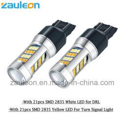 LED Lâmpadas Automotivo 7443 Dual cor branco/amarelo para a Luz da Sinaleira Direcional DRL