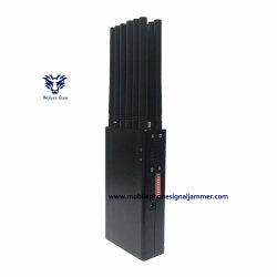 휴대용 12밴드 휴대폰 Jammer GSM CDMA GPS WiFi 휴대폰 신호 Jammer, 차량 충전