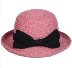 El verano de moda Dama Fedora sombrero de paja de la cuchara