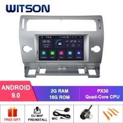 Processeurs quatre coeurs Witson Android 9.0 DVD de voiture GPS pour Citroen C4 soutien externe 3G Dongle