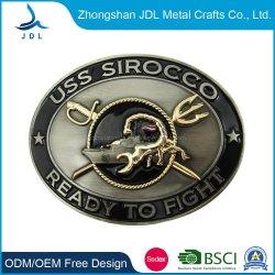 卸売高品質カスタムメイドファッション亜鉛合金製ソフトエナメル 3D アーミーメンズカスタムロゴミリタリースチールダイレクトセールベルトバックル( 011 )