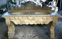 Salle de bains de la vanité de sculpture sur pierre sculpture pour la décoration d'accueil