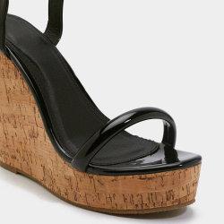 Les femmes coins de la plate-forme sandales hauts talons Mesdames sexy sandales