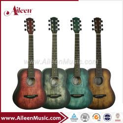 34'' de madera de tamaño pequeño de estudiantes viajes Guitarra Acústica (AF-H00L-34)