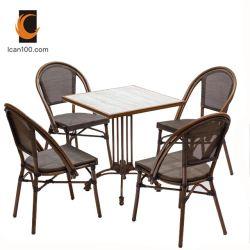 Umweltfreundliche materielle Garten-im FreienKaffeestube-Aluminiumpatio-Tisch-gesetzte Esszimmer-Möbel (I can-50026)