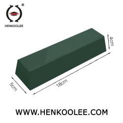 Cera de color verde para la depilación con cera de la superficie de acero inoxidable