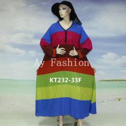 Plus tard les styles d'usure traditionnelle africaine Plus Size Kaftan robe en soie imprimée