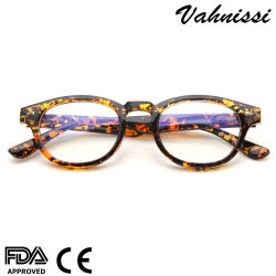 Réflexe Vintage en plastique bleu lunettes anti Calculateur de feu de cadres pour Unisex