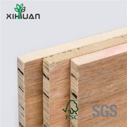 1220*2440mm preiswertes Preis-Baumaterial-Furnier-Blatt HDF Blockboard