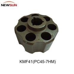 Escavadeira Komatsu PC45-7 Kmf41 Bloco de peça do motor de giro