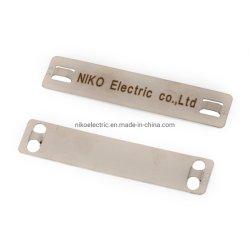 Металлический блеск кабель маркера пластину с помощью самоблокирующегося кабельной стяжки