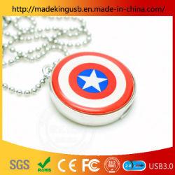 Metal Round Push-Pull Small Us Kapitän Shield Shape USB-Flash-Laufwerk